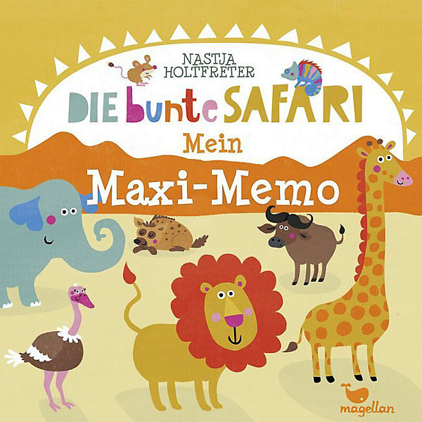 Die bunte Safari - Mein Maxi-Memo (Kinderspiel),