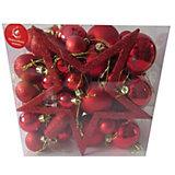 Набор ёлочных шаров Новогодняя сказка 50 шт, красный