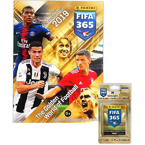 "Альбом Panini ""FIFA 365-2019™"" и блистер, 5 пакетиков с наклейками от Panini"