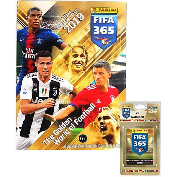 """Альбом Panini """"FIFA 365-2019™"""" и блистер, 5 пакетиков с наклейками"""