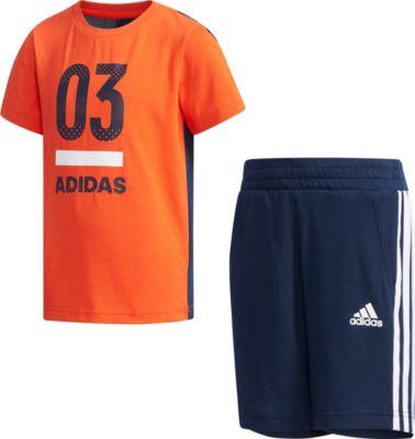Sommer Set: T Shirt + Shorts für Jungen, adidas Performance