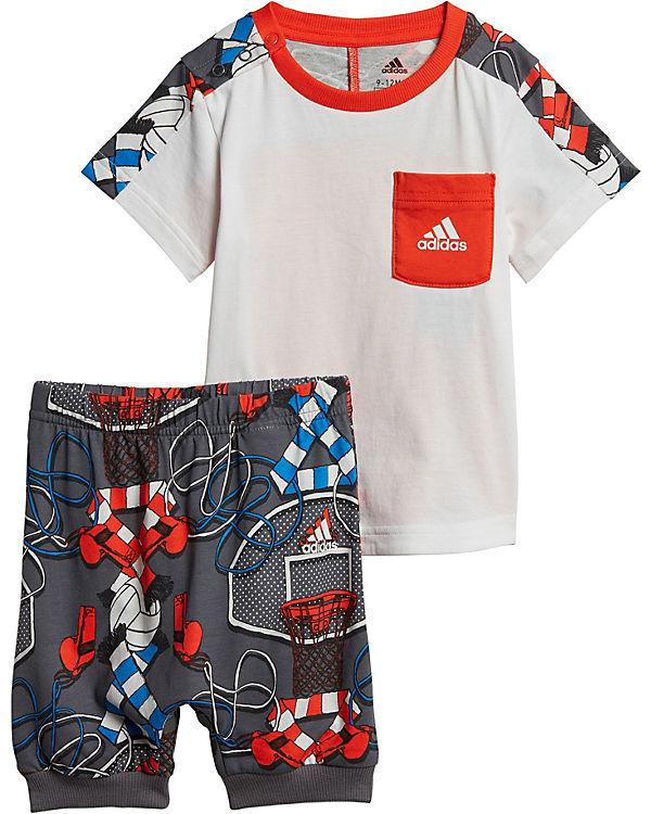 elegantes Aussehen niedriger Preis vielfältig Stile Sommer Set für Jungen: T-Shirt + Hose, adidas Performance