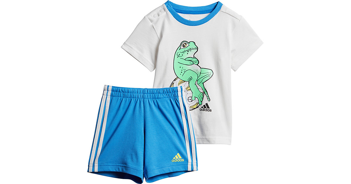 Baby Sommer Set ANIMAL : T-Shirt + Shorts weiß Gr. 74 Jungen Baby