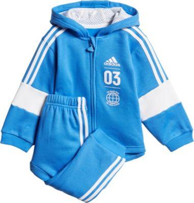 Baby Jogginganzug LOGO FZHD für Jungen, adidas Performance