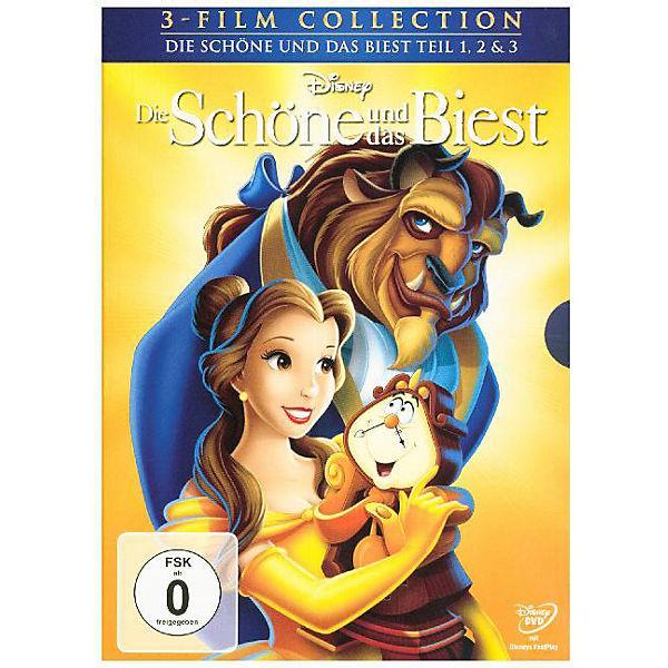 dvd die schöne und das biest 1-3, disney princess | mytoys