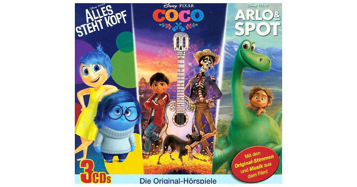 KIDDINX · CD Disney - Arlo & Spot / Alles steht Kopf / Cocos (3 CDs)