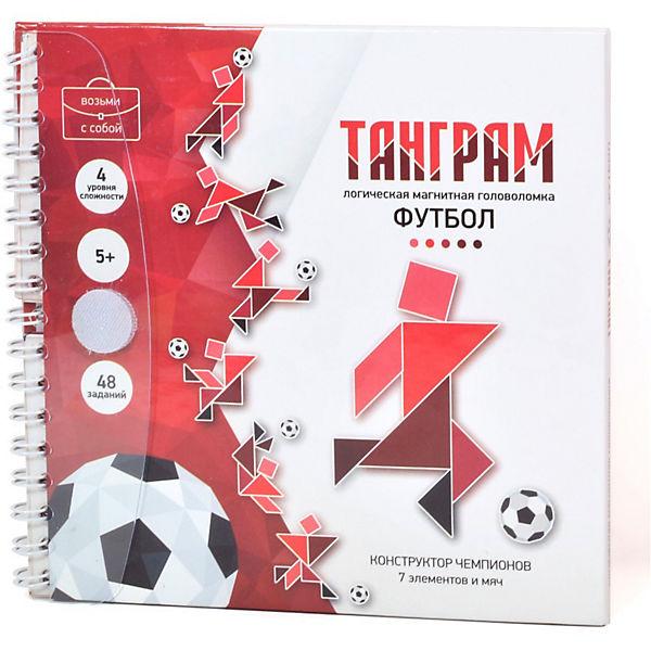 """Игра магнитная головоломка Танграм """"Футбол"""", Десятое королевство"""
