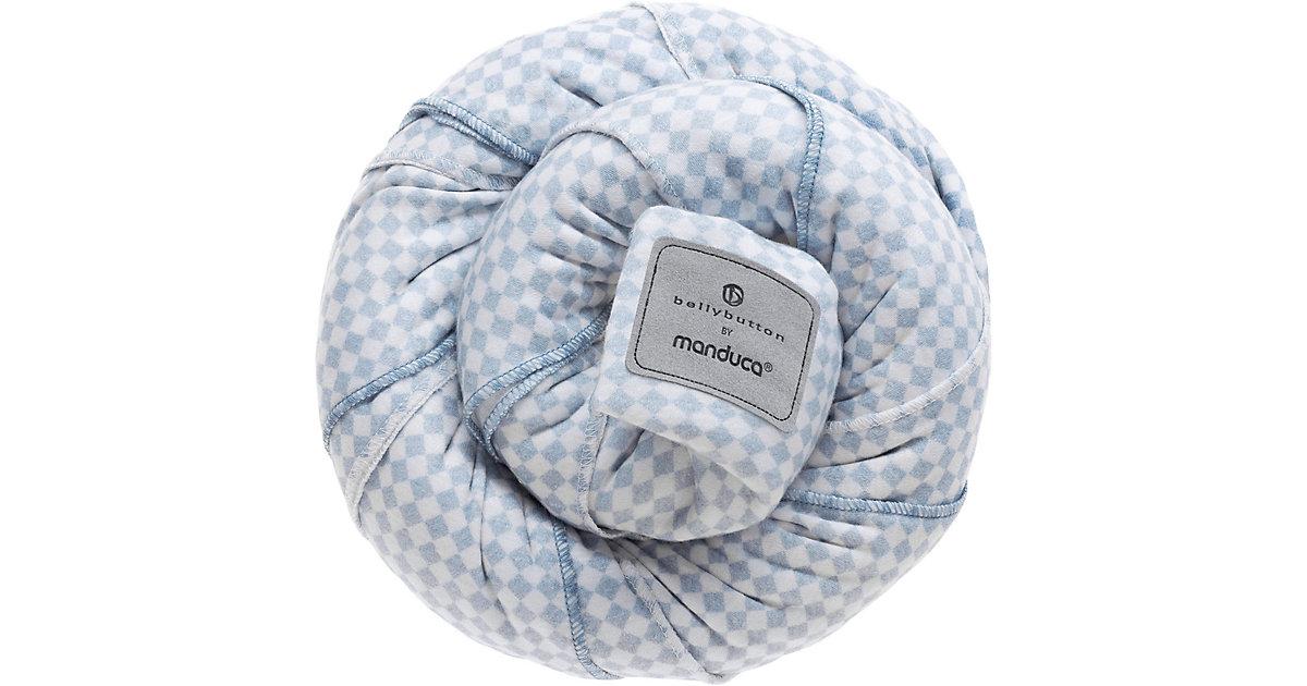 Manduca · Tragetuch sling, bellybutton by manduca, SoftCheck blue
