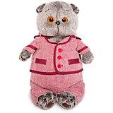 Мягкая игрушка Budi Basa Кот Басик в красном пиджаке и брюках в ёлочку, 19 см