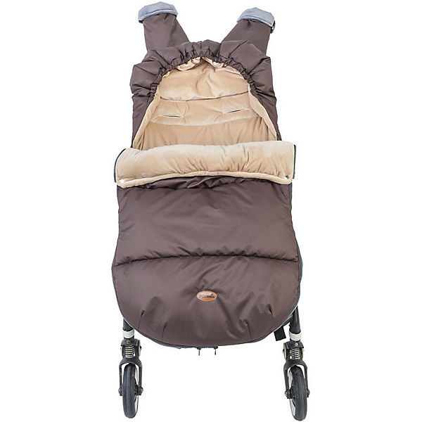 Конверт зимний в коляску Mammie, коричневый