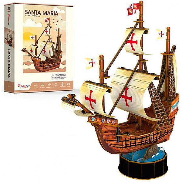 "3D пазл CubicFun ""Корабль Санта Мария"""