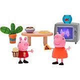 """Игровой набор Росмэн """"Свинка Пеппа"""" Пеппа и Мама смотрят фильмы"""