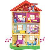 """Игровой набор Росмэн """"Свинка Пеппа"""" Большой дом Пеппы, 6 комнат, свет и звук"""