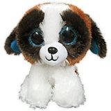 Мягкая игрушка ABtoys Собачка 15 см, бело-коричневая