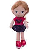 Мягкая кукла ABtoys блондинка в синей юбочке, 32 см