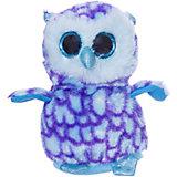 Мягкая игрушка ABtoys Совёнок 15 см, голубой