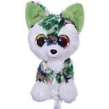 Мягкая игрушка Lumo Stars Волк Woody 15 см., серо-зелёный