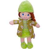 Мягкая кукла ABtoys рыжая в зелёном пальто, 36 см