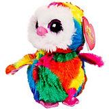 Мягкая игрушка ABtoys Совёнок 15 см, разноцветный