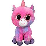 Мягкая игрушка ABtoys Единорог 15 см, светло-фиолетовый