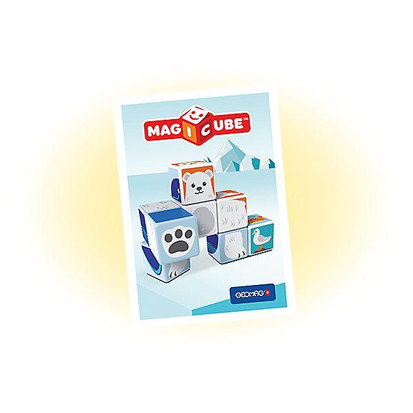 """Конструктор магнитный Geomag """"MagiCube"""" Полярные друзья, 10  деталей"""