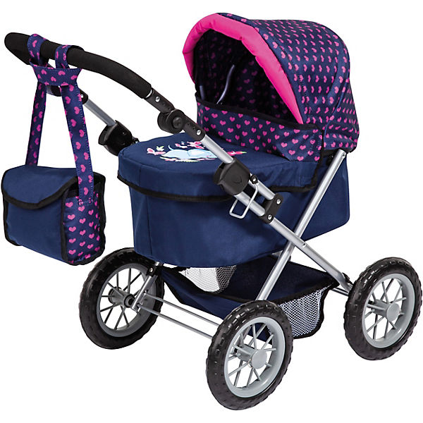 myToys-Collection Puppenwagen Trendy, Elefanten Motiv, blau/pink