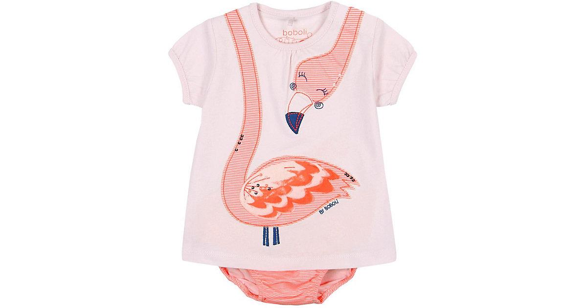 BÒBOLI · Baby Set Jerseykleid + Slip, Flamingo Gr. 86 Mädchen Kleinkinder