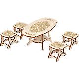 Набор мебели Одним прекрасным утром «Столовая комната» коллекция «Барокко», 5 предметов