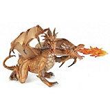 Фигурка PaPo Двухголовый дракон, золотой