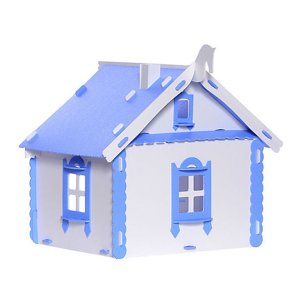 """Кукольный домик Krasatoys """"Деревенский домик Маруся"""" с мебелью, бело-голубой"""