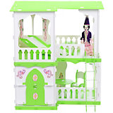 """Кукольный домик R&C """"Алсу"""" с мебелью, бело-салатовый"""