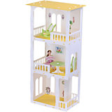 "Кукольный домик R&C ""Жасмин"" с мебелью, бело-жёлтый"