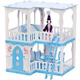 """Кукольный домик R&C """"Алсу"""" с мебелью, бело-голубой"""