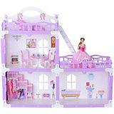 """Кукольный домик R&C """"Анна"""" с мебелью, бело-сиреневый"""