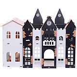 """Кукольный домик R&C """"Замок Джульетты"""" с мебелью, бело-чёрно-оранжевый"""