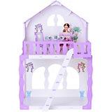"""Кукольный домик R&C """"Марина"""" с мебелью, бело-сиреневый"""