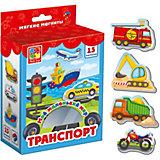 """Мягкие магниты Vladi Toys """"Мой маленький мир"""" Транспорт"""