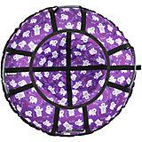 Тюбинг Hubster Люкс Pro Мишки фиолетовые, 105 см
