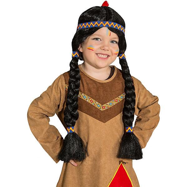 Kinderperücke Indianerin Geflochtene Zöpfe Mytoys