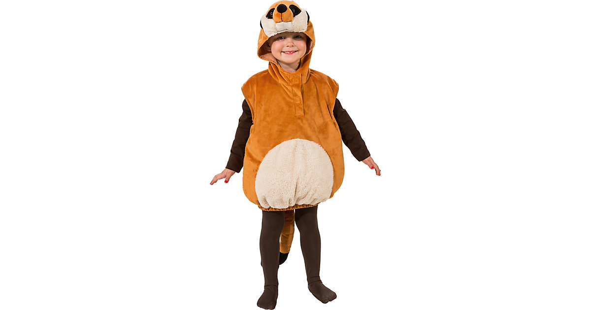 Kostüm Erdmännchen braun Gr. 104