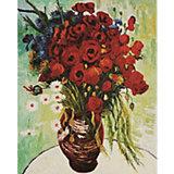 """Картина по номерам Molly  """"Ван Гог"""" Цветущие маки и ромашки, 40х50 см"""