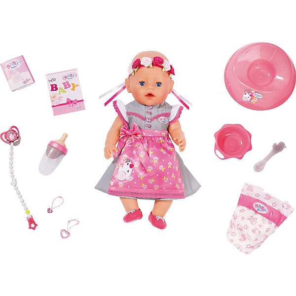 BABY born Babypuppe Soft Touch Dirndl Edition