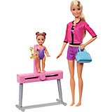 """Игровой набор Barbie """"Спортивная карьера"""" Гимнастика, блондинка"""