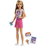 Кукла Barbie Семья Няня Скиппер Блондинка с мороженым