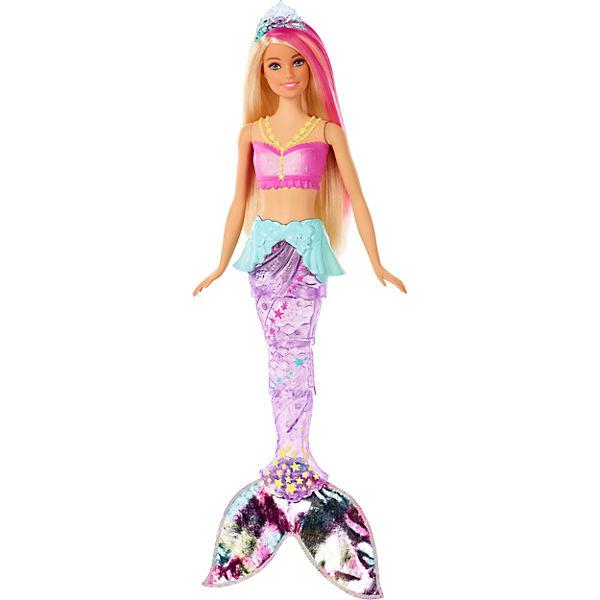 """Кукла Barbie Dreamtopia """"Сверкающие огни русалки"""", Блондинка с розовой прядью"""
