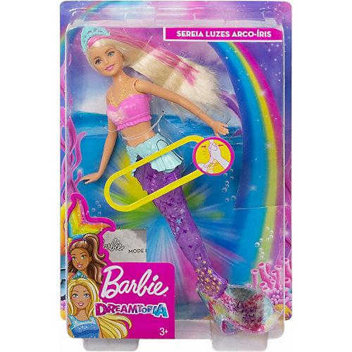 """Кукла Barbie Dreamtopia """"Сверкающие огни русалки"""", Блондинка с розовой прядью от Mattel"""