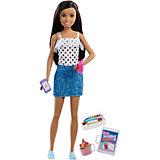 Кукла Barbie Семья Няня Скиппер Брюнетка с десертом