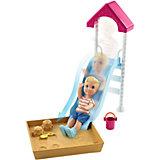 """Игровой набор Barbie """"Скиппер няня"""" Малыш на горке с песочницей"""