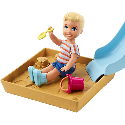 """Игровой набор Barbie """"Скиппер няня"""" Малыш на горке с песочницей от Mattel"""