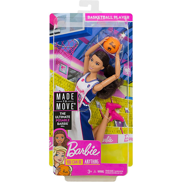 Barbie Made to Move Basketballspielerin Basketballspielerin Move Puppe, Barbie bda1cd